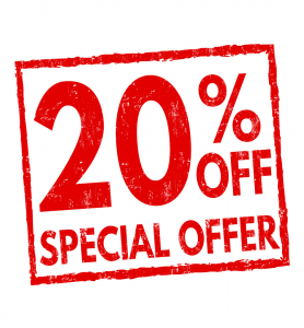 20% OFF special offer